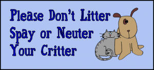 Spay and neuter your critter